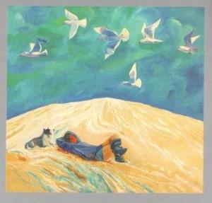 Чайки прилетели. Масло. 1996. Хулархаапэ кэлуҥи.