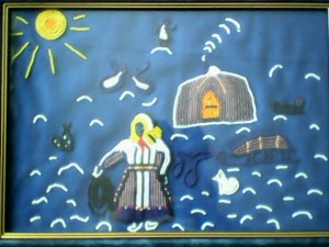 Панно из бисера, автор Д.Н Курилова