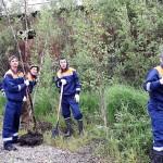 Бойцы студотрядов восстанавливают пострадавшую от стихии Березовку